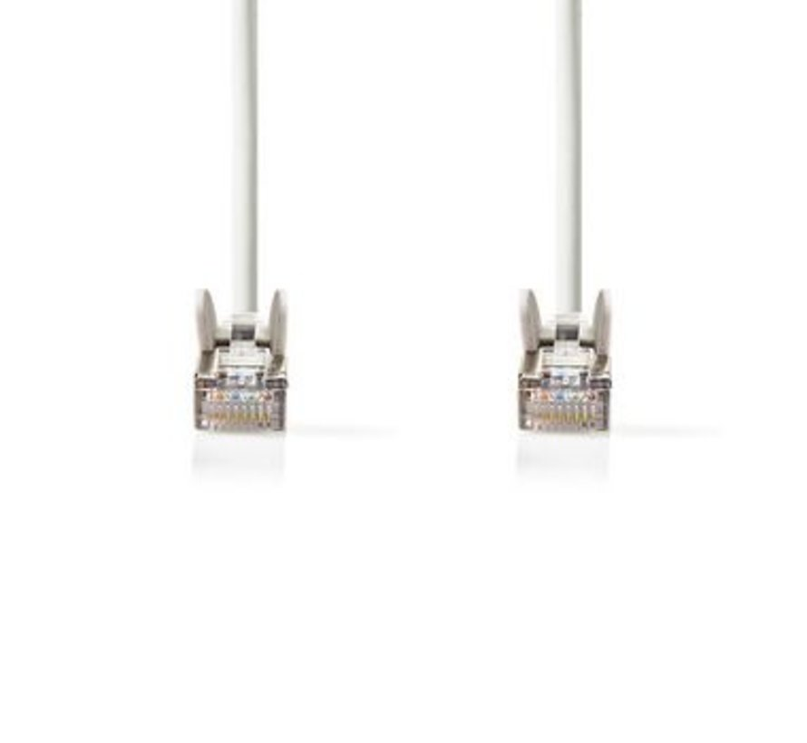 CAT5e-Kabel | UTP | RJ45 (8P8C) Male | RJ45 (8P8C) Male | 1.00 m | Rond | PVC | Wit | Polybag