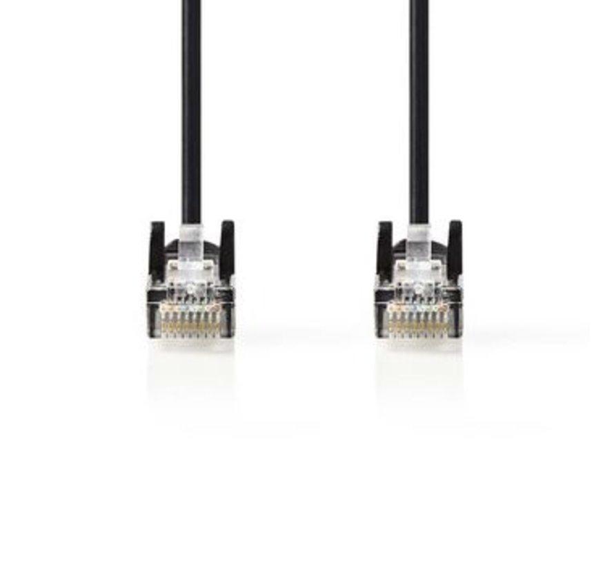 CAT5e-Kabel | UTP | RJ45 (8P8C) Male | RJ45 (8P8C) Male | 2.00 m | Rond | PVC | Zwart | Polybag