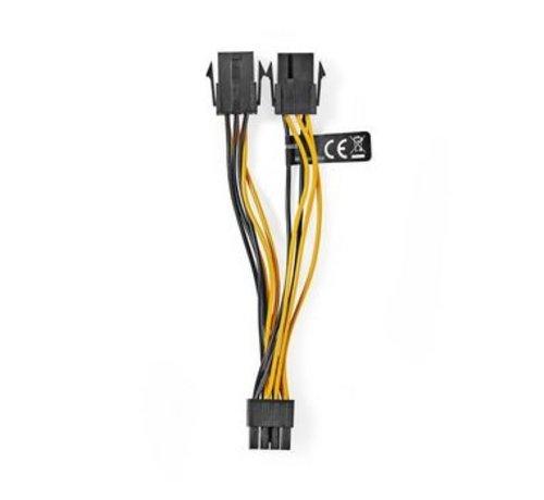 Nedis Interne Voedingskabel   EPS 8-Pins Male - 2x PCI Express Female   0,15 m   Diverse