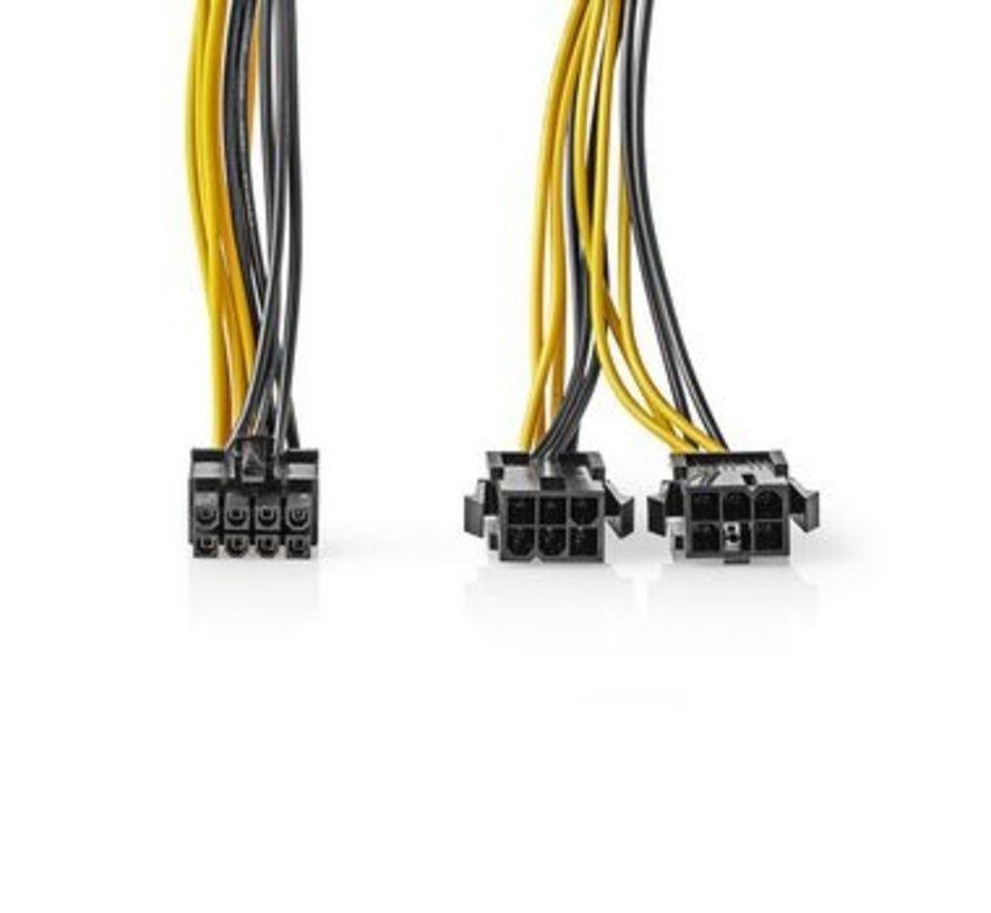 Interne Voedingskabel   EPS 8-Pins Male - 2x PCI Express Female   0,15 m   Diverse