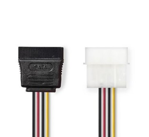 Nedis Interne Voedingskabel | Molex Male - SATA 15-Pins Female | 0,15 m | Diverse