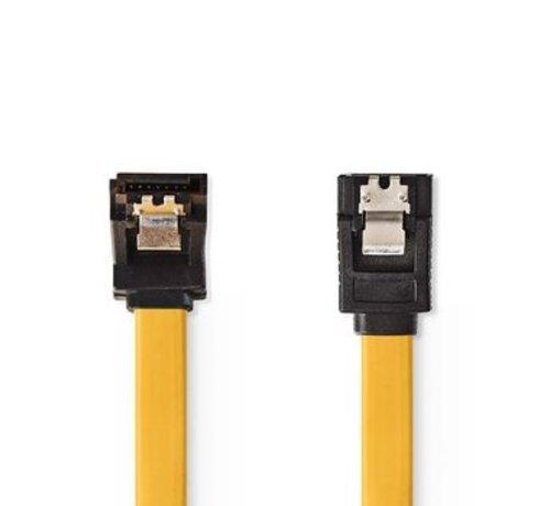 Nedis Datakabel SATA 6 Gb/s   SATA 7-Pins Female - SATA 7-Pins Female 270° Gehoekt met Vergrendeling   0,5 m   Geel