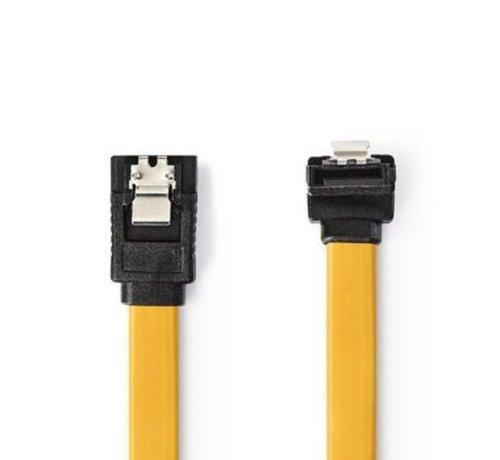 Nedis Datakabel SATA 6 Gb/s   SATA 7-Pins Female met Vergrendeling - SATA 7-Pins Female 90° Gehoekt met Vergrendeling   0,5 m   Geel