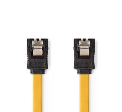 Nedis Datakabel SATA 6 Gb/s | SATA 7-Pins Female met Vergrendeling - SATA 7-Pins Female met Vergrendeling | 0,5 m | Geel