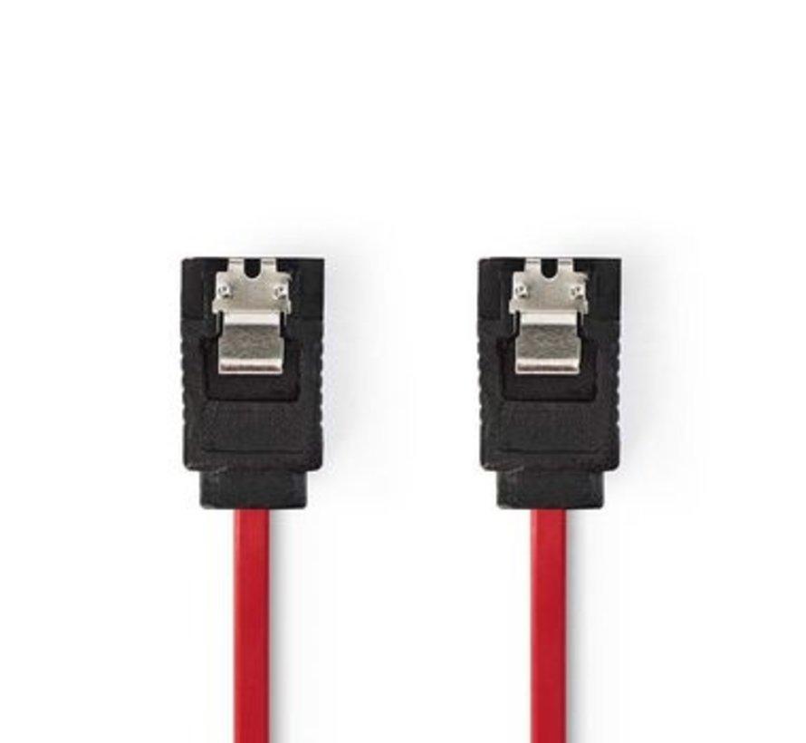 Datakabel SATA 3 Gb/s | SATA 7-Pins Female met Vergrendeling - SATA 7-Pins Female met Vergrendeling | 0,5 m | Rood