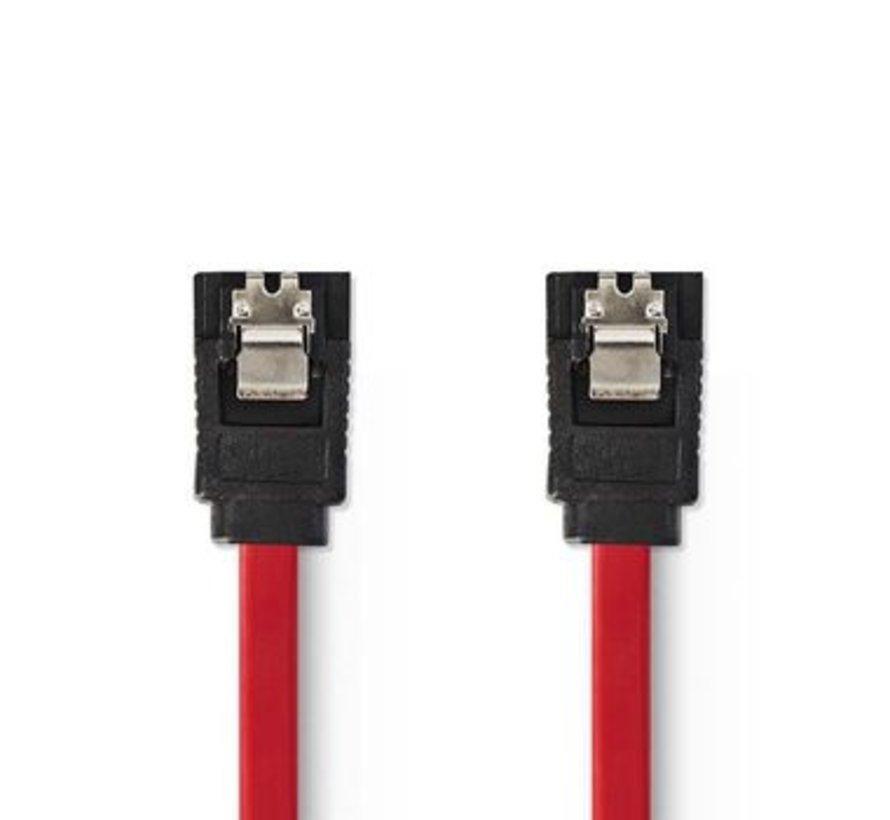 Datakabel SATA 1,5 Gb/s | SATA 7-Pins Female - SATA 7-Pins Female | 0,5 m | Rood