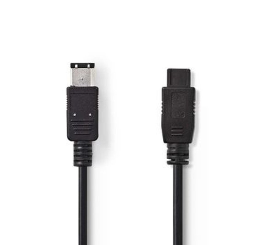 FireWire-Kabel | 6-Pins Male - 9-Pins Male | 2,0 m | Zwart