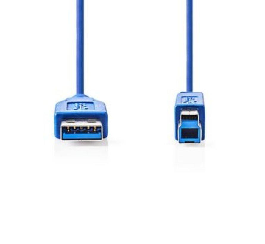 USB 3.0-Kabel | A Male - B Male | 2,0 m | Blauw