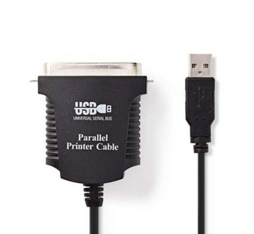 Printerkabel USB | USB-A Male - Centronics 36-Pins Male | 2,0 m | Zwart