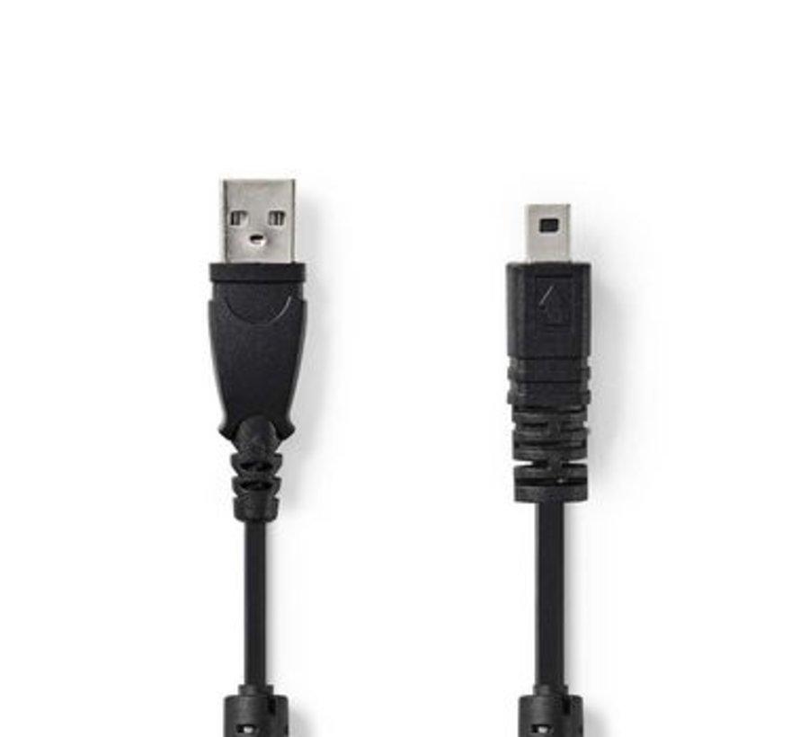 Datakabel voor Camera's   USB-A Male - UC-E6 8-Pins Male   2,0 m   Zwart