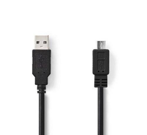 Nedis USB 2.0-Kabel | A Male - Micro-B Male | 3,0 m | Zwart