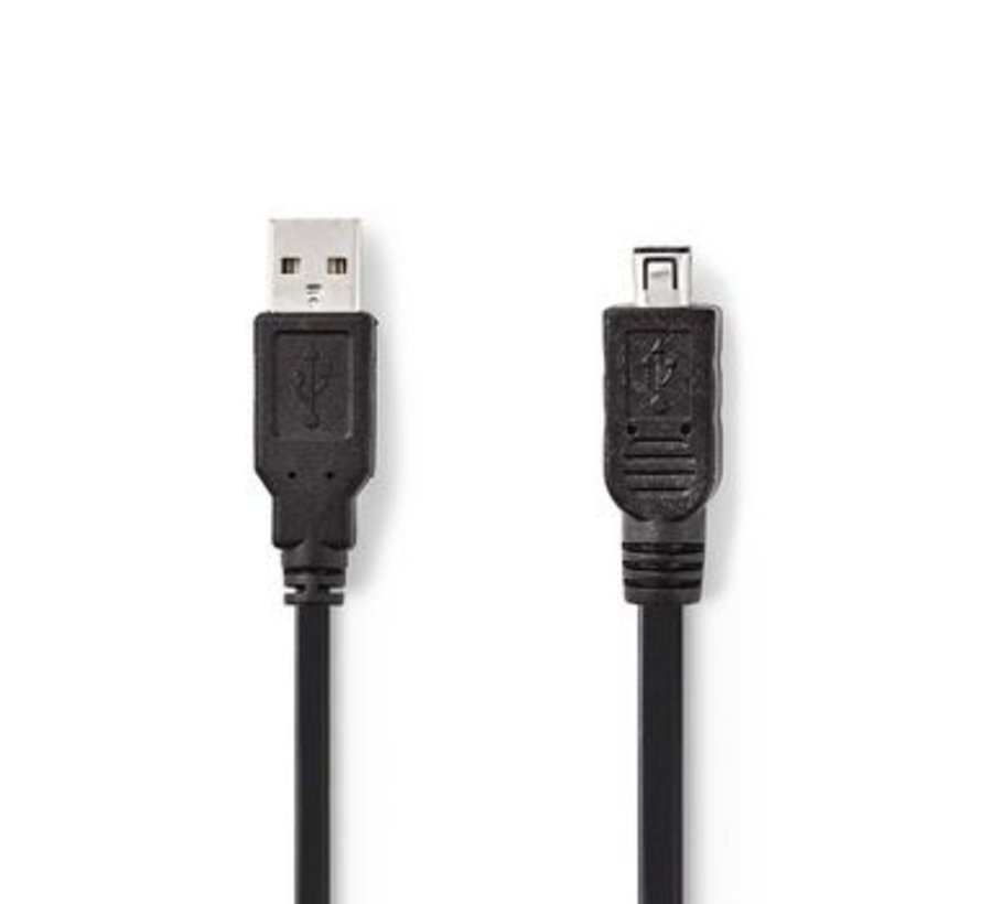 USB 2.0-Kabel | A Male - Hirose Mini 4-Pins Male | 2,0 m | Zwart