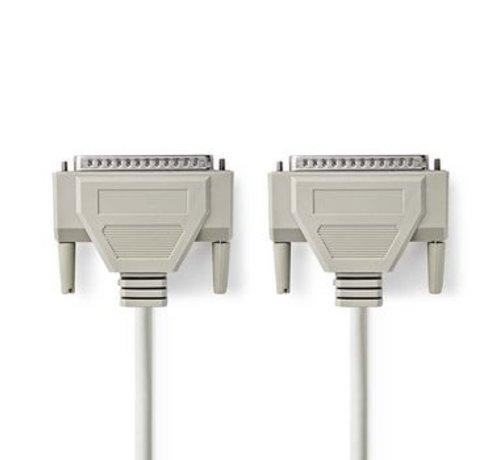 Nedis Seriële Kabel | D-Sub 37-Pins Male - D-Sub 37-Pins Male | 1,0 m | Ivoor