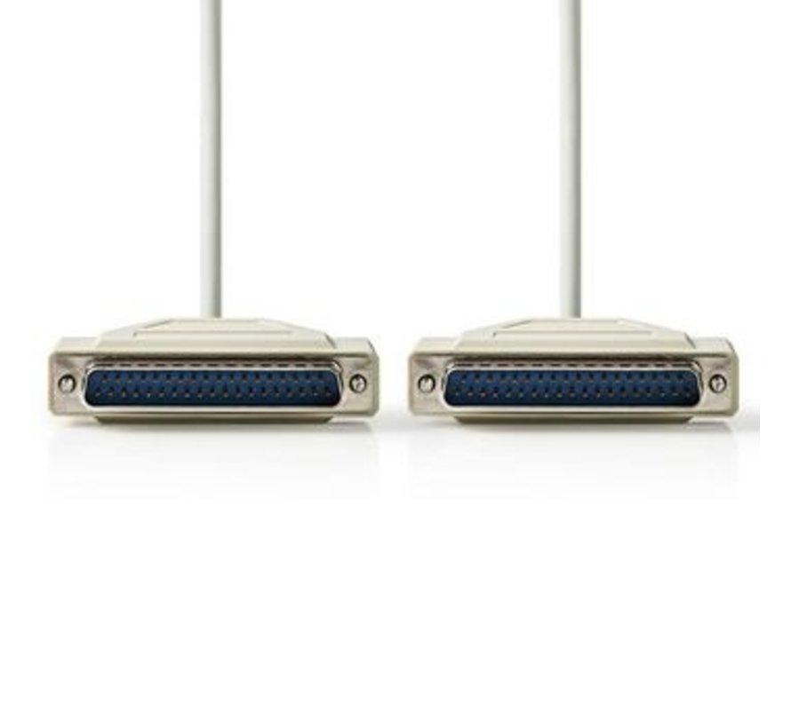 Seriële Kabel | D-Sub 37-Pins Male - D-Sub 37-Pins Male | 1,0 m | Ivoor