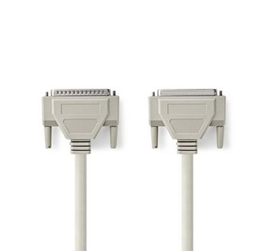 RS232-Kabel | D-Sub 25-Pins Male - D-Sub 25-Pins Female | 2,0 m | Ivoor