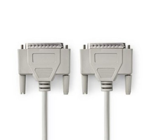 Nedis RS232-Kabel | D-Sub 25-Pins Male - D-Sub 25-Pins Male | 2,0 m | Ivoor