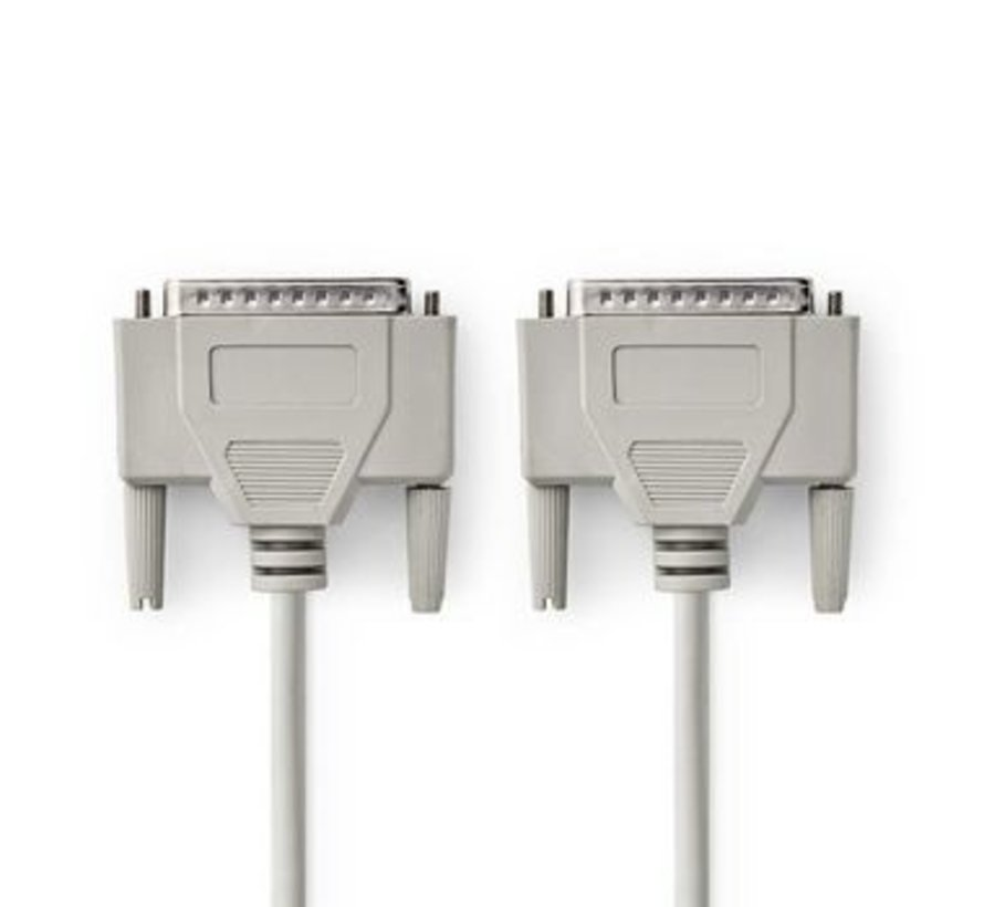 RS232-Kabel | D-Sub 25-Pins Male - D-Sub 25-Pins Male | 2,0 m | Ivoor