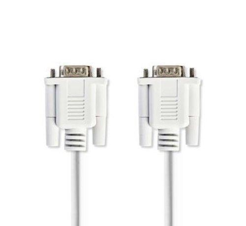 Nedis Seriële Kabel | D-Sub 9-Pins Male - D-Sub 9-Pins Male | 2,0 m | Ivoor
