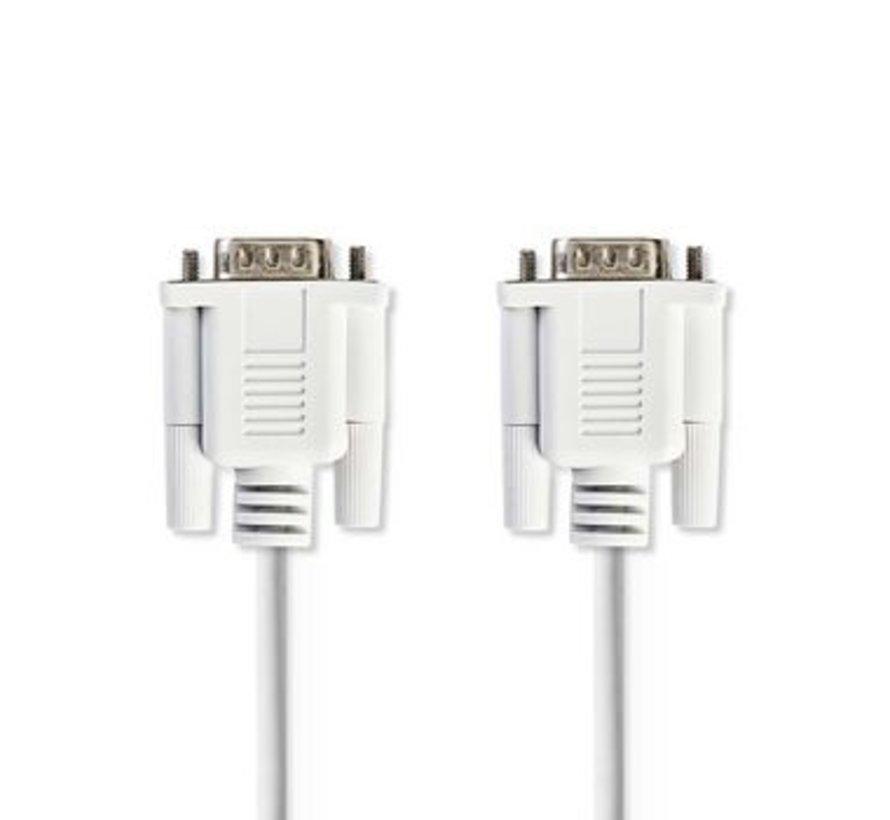 Seriële Kabel | D-Sub 9-Pins Male - D-Sub 9-Pins Male | 2,0 m | Ivoor
