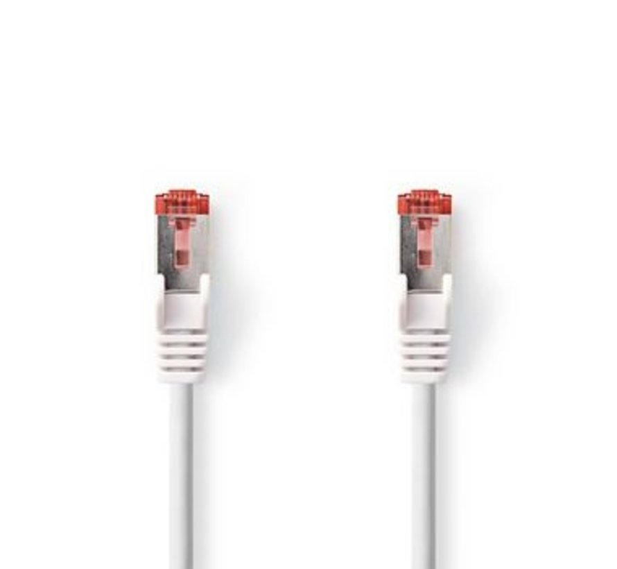 Netwerkkabel CAT6 S/FTP | RJ45 (8P8C) male - RJ45 (8P8C) male | 2,0 m | Wit