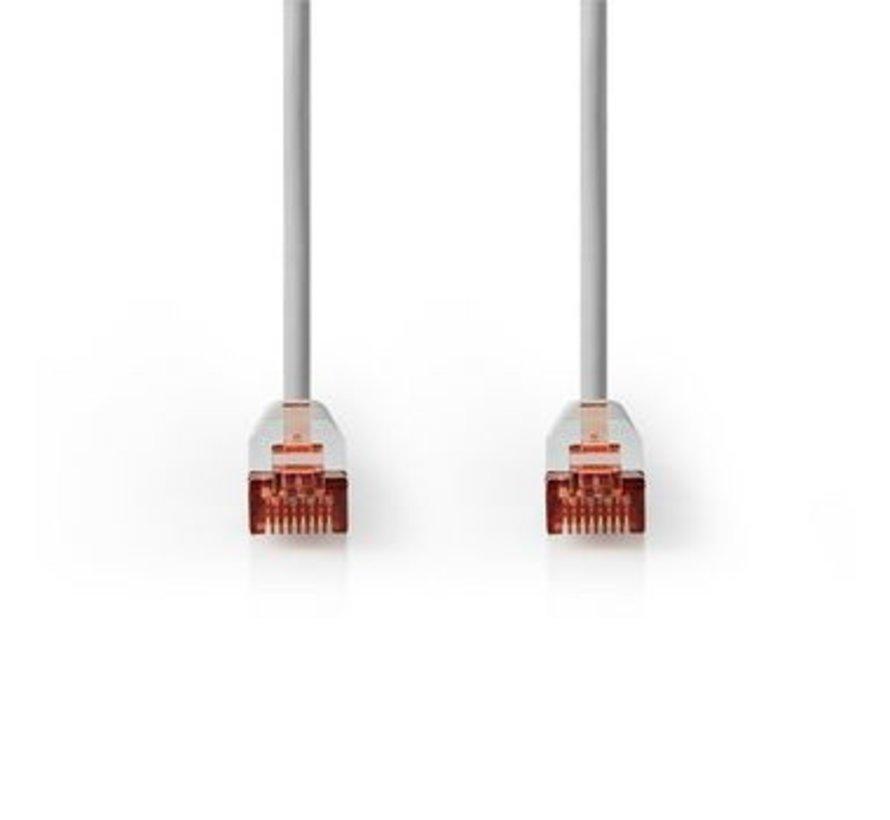 CAT6 S/FTP-Netwerkkabel | RJ45 (8P8C) Male - RJ45 (8P8C) Male | 1,0 m | Grijs