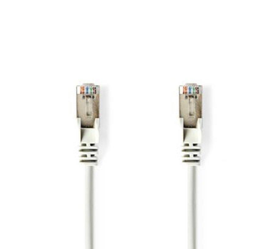 CAT5e-Kabel   SF/UTP   RJ45 (8P8C) Male   RJ45 (8P8C) Male   3.00 m   Rond   PVC   Wit   Blister