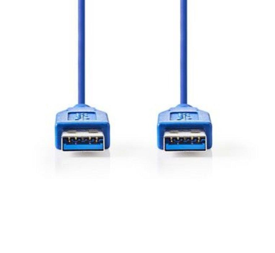 USB 3.0-Kabel   A Male - A Male   2,0 m   Blauw