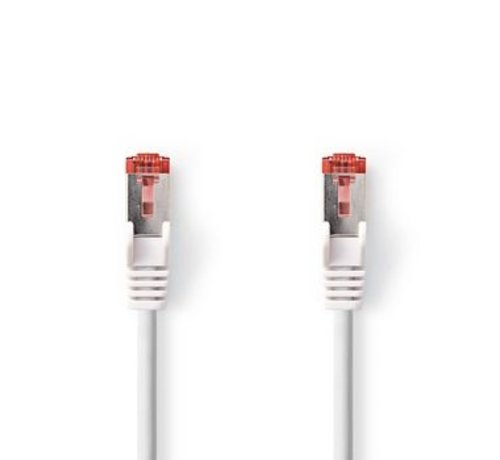 Nedis CAT6-kabel | RJ45 (8P8C) Male | RJ45 (8P8C) Male | SF/UTP | 1.00 m | Rond | PVC LSZH | Wit | Window Box