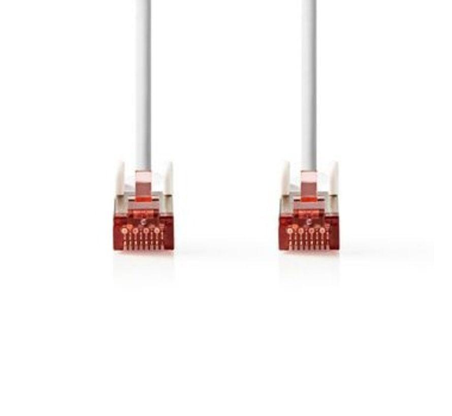 Netwerkkabel CAT6 S/FTP | RJ45 (8P8C) male - RJ45 (8P8C) male | 0,25 m | Wit