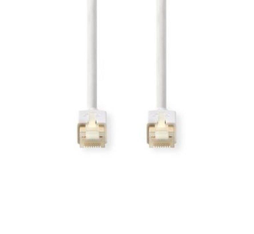 Cat 6 F/UTP-netwerkkabel | RJ45 (8P8C) male - RJ45 (8P8C) male | 15,0 m | Wit