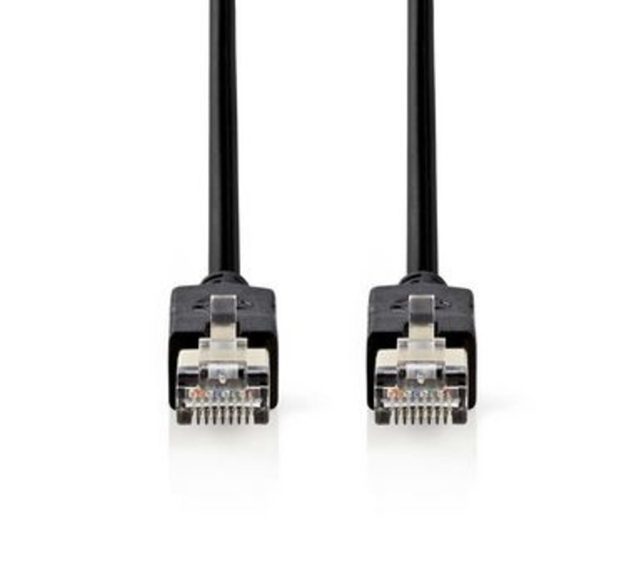 CAT6-kabel | RJ45 (8P8C) Male | RJ45 (8P8C) Male | F/UTP | 3.00 m | Rond | PVC LSZH | Antraciet | Polybag