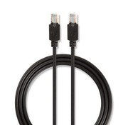 Nedis CAT5e-Kabel | UTP | RJ45 (8P8C) Male | RJ45 (8P8C) Male | 1.00 m | Rond | LSZH | Antraciet | Polybag