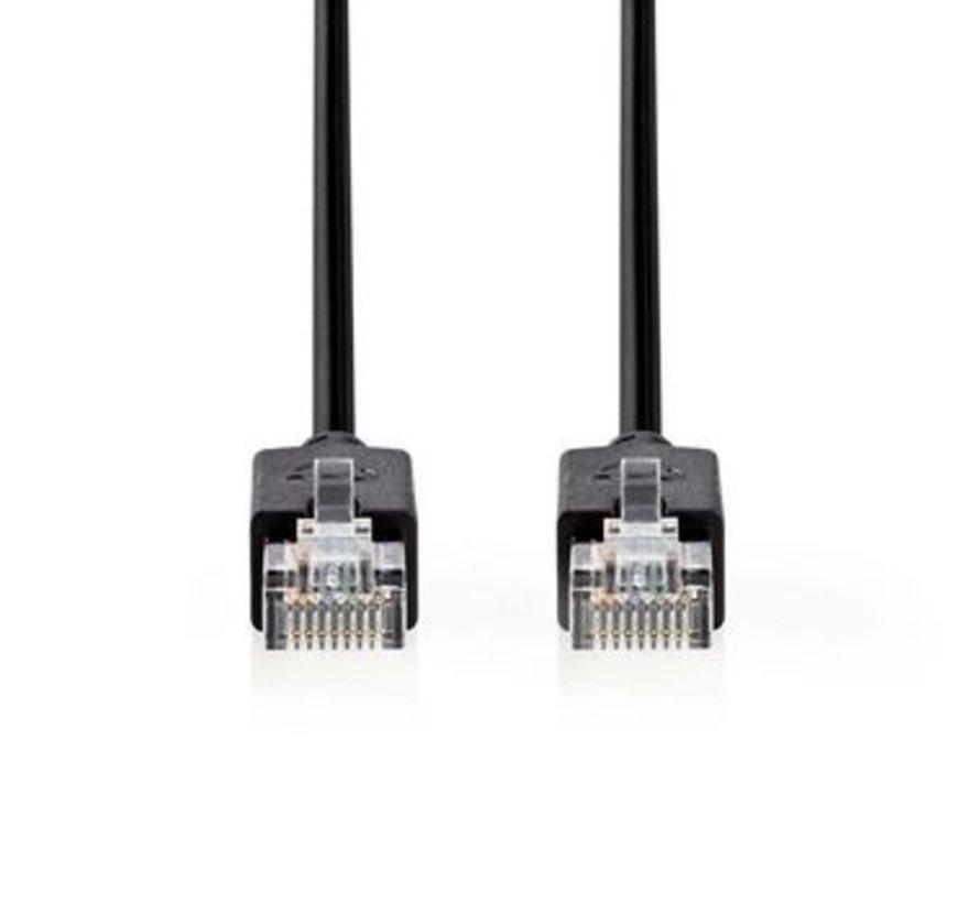 CAT5e-Kabel | UTP | RJ45 (8P8C) Male | RJ45 (8P8C) Male | 1.00 m | Rond | LSZH | Antraciet | Polybag