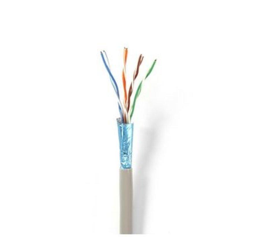 Netwerkkabel CAT6 F/UTP | Solid - 305 m | Grijs