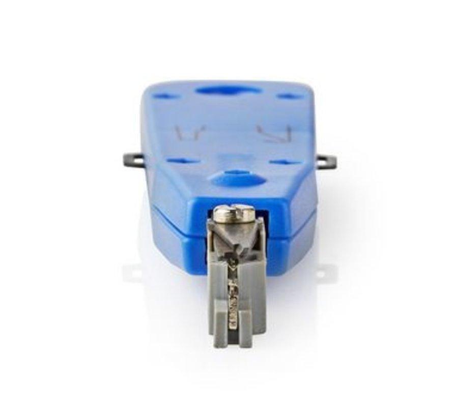 LSA punchdown tool voor LSA krone en strips blauw