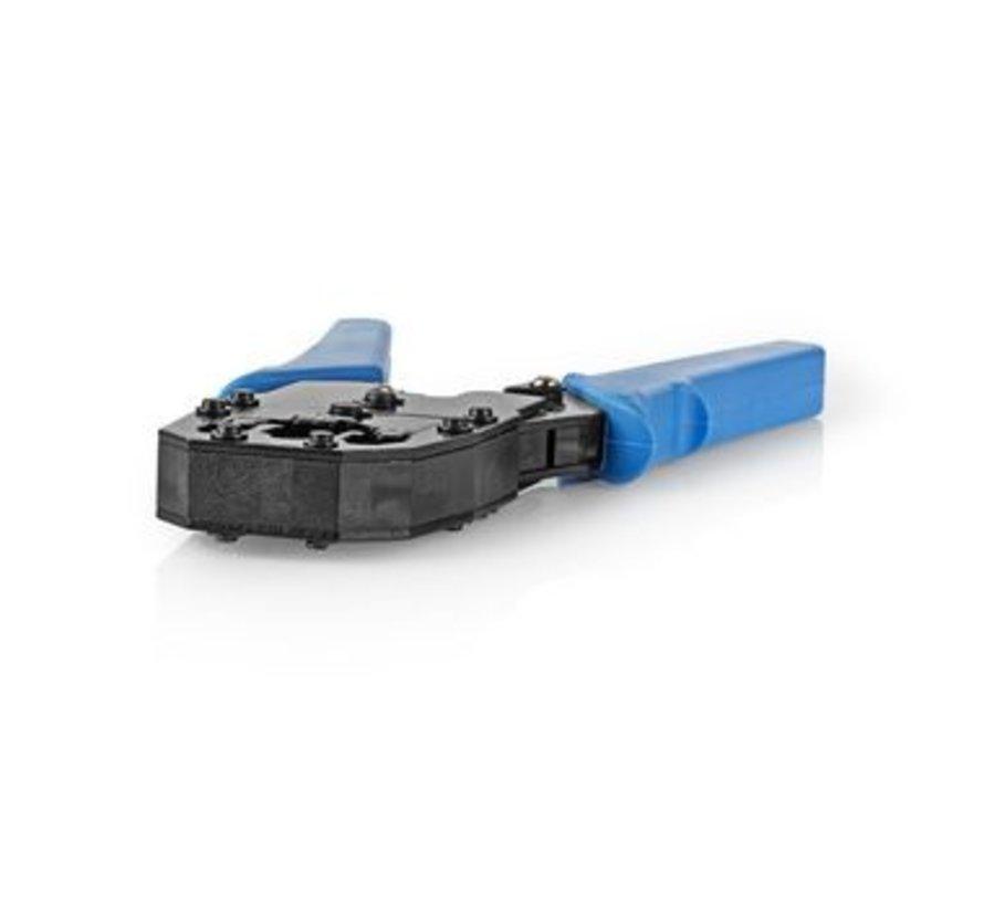 Krimptang voor RJ45 - RJ11 - RJ10 blauw