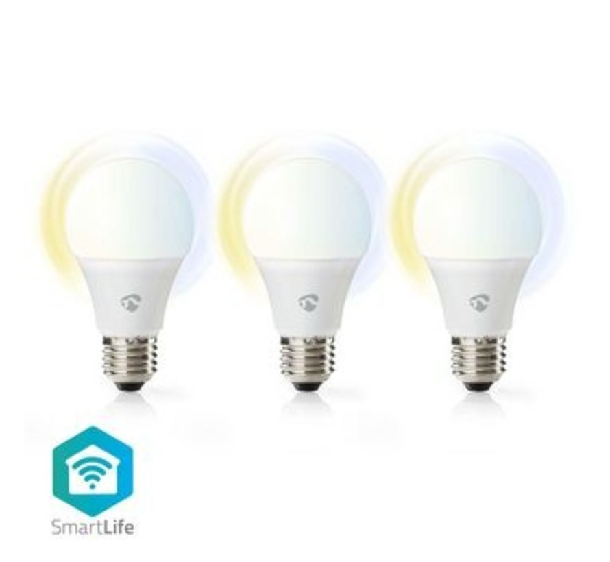 Wi-Fi smart LED-lampen   Warm- tot Koud-Wit   E27   3-Pack