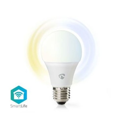 Nedis Wi-Fi smart LED-lamp   Warm- tot Koud-Wit   E27