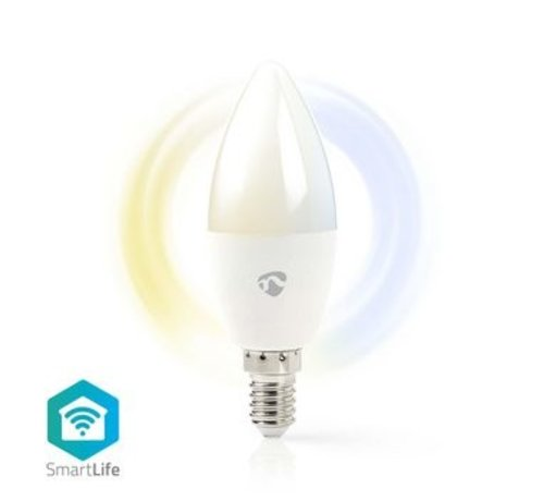Nedis Wi-Fi smart LED-lamp | Warm- tot Koud-Wit | E14