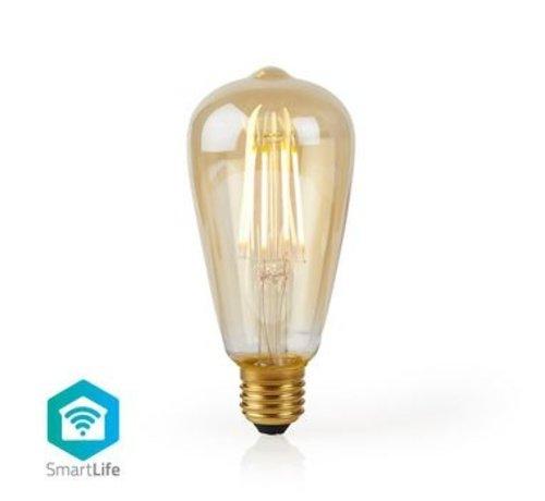 Nedis Wi-Fi Smart LED Filament Lamp | E27 | ST64 | 5 W | 500 lm