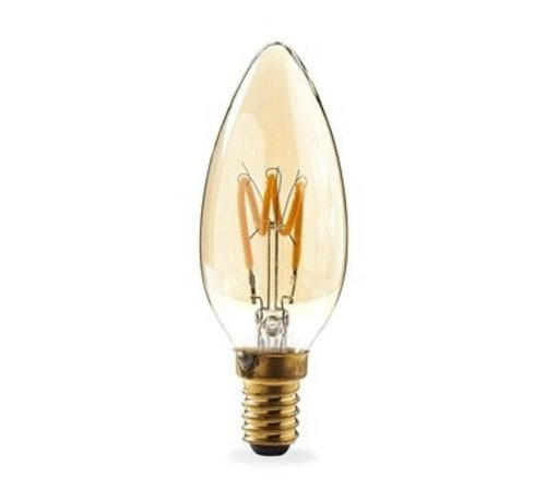 Nedis LED-Filamentlamp Retro E14 | Kaars | 3 W | 100 lm | 3-Pack