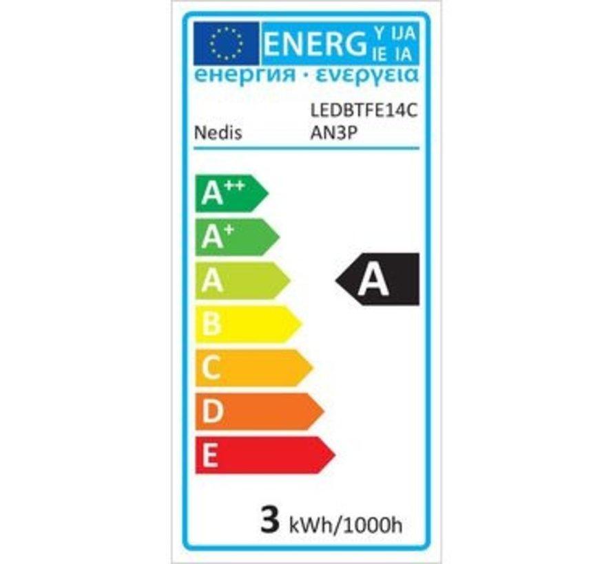 LED-Filamentlamp Retro E14 | Kaars | 3 W | 100 lm | 3-Pack