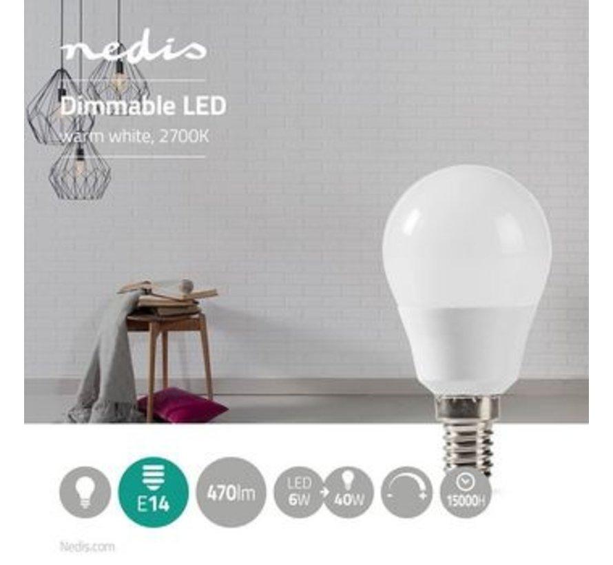 Dimbare LED-Lamp E14 | G45 | 6 W | 470 lm