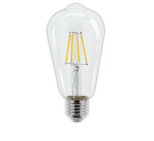 LED Vintage Filamentlamp Dimbaar ST64 4 W 345 lm 2700 K