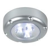 LED Lamp met Druktoets 3 Zilver