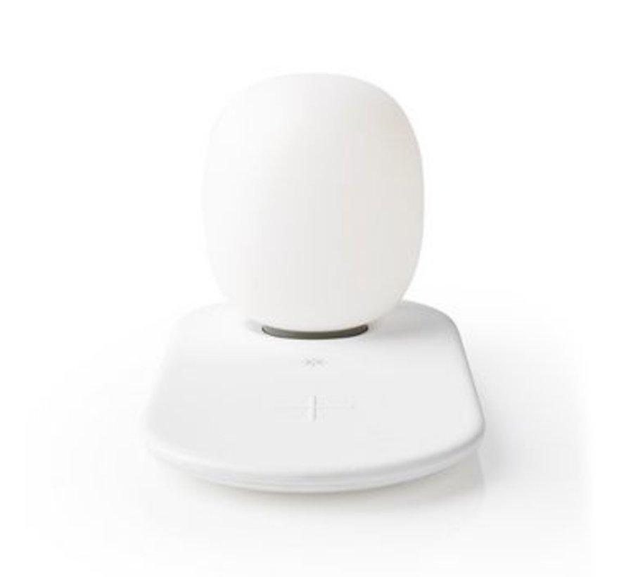 LED-Nachtlamp met Touch-Bediening | Draadloze Qi-Lader voor Smartphone | 10 W
