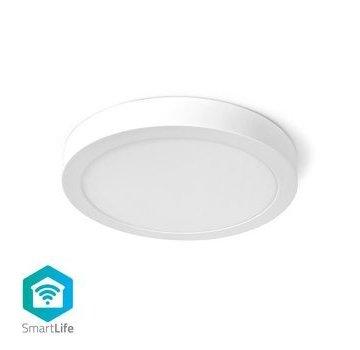 Nedis Wi-Fi Smart Plafondlamp | Rond | ø 30 cm | Warm tot Koel Wit | 1400 lm | 18 W | Slank Design | Aluminium