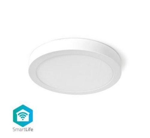 Nedis Wi-Fi Smart Plafondlamp   Rond   ø 30 cm   Warm tot Koel Wit   1400 lm   18 W   Slank Design   Aluminium
