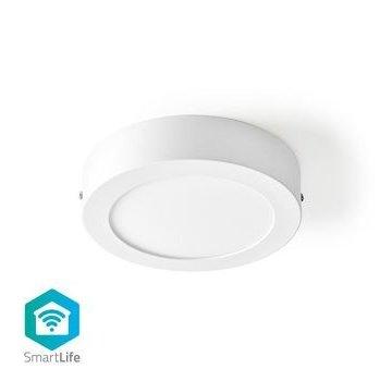 Nedis Wi-Fi Smart Plafondlamp   Rond   Diameter 17 cm   Warm tot Koel Wit   800 lm   12 W   Slank Design   Aluminium