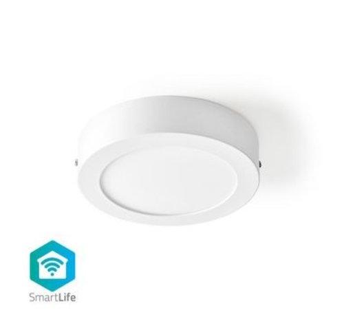 Nedis Wi-Fi Smart Plafondlamp | Rond | Diameter 17 cm | Warm tot Koel Wit | 800 lm | 12 W | Slank Design | Aluminium